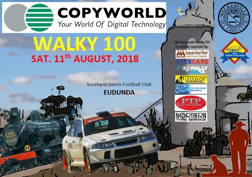 2018 Copyworld Walky 100 - Eudunda - 11th Aug 2018 - Poster