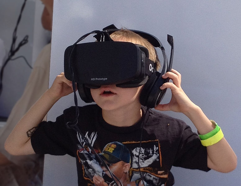 Boy wearing Oculus Rift HMD - Wikipedia