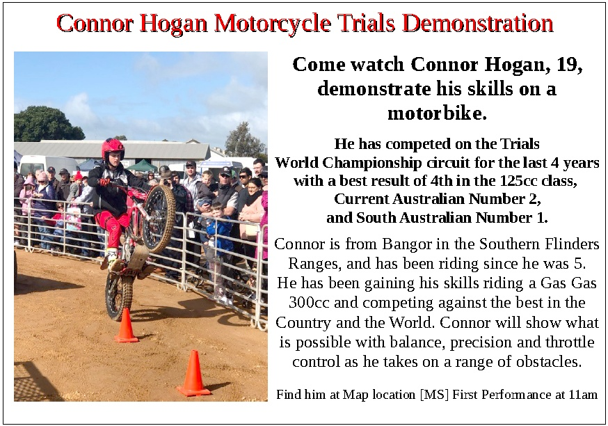 Connor Hogan - Motorcycle Stunts at the 2019 Eudunda Show