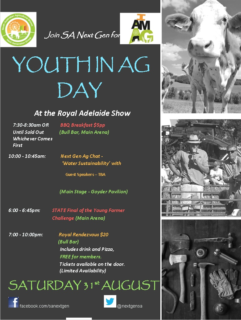 Youth in Ag Day - Royal Adelaide Show 31st Aug 2019